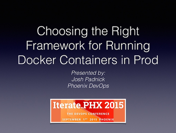 Choosing the Right Framework for Running Docker Containers in Production